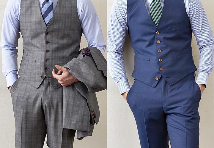 スーツ×ベスト,丈の長さ