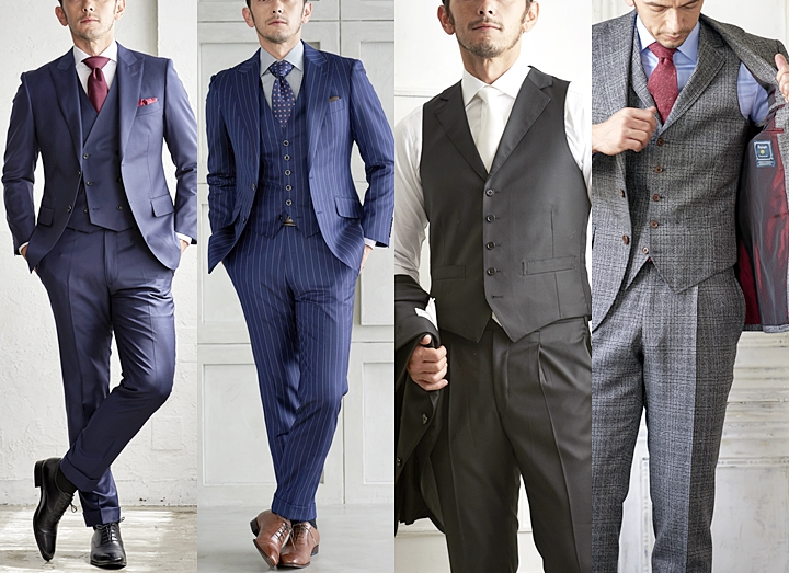 スーツ×ベストのスリーピース着こなし術!結婚式・ビジネスで差を付けるコーディネート