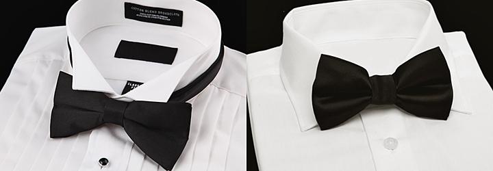 蝶ネクタイおすすめシャツ襟ウィングカラーレギュラーカラー