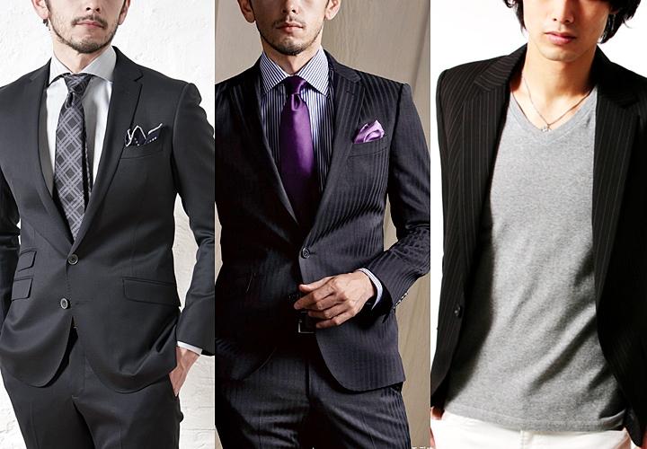 ブラック(黒)スーツの着こなしの種類