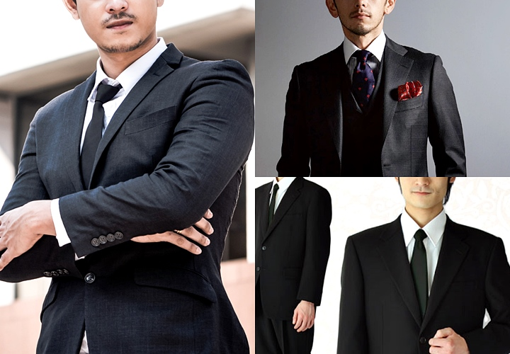 ビジネススーツ用のブラックスーツ