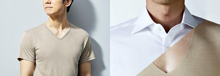 スーツスタイルに欠かせないシャツ インナーはベージュ