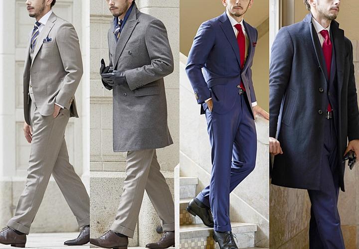 チェスターコートとスーツの合わせ方