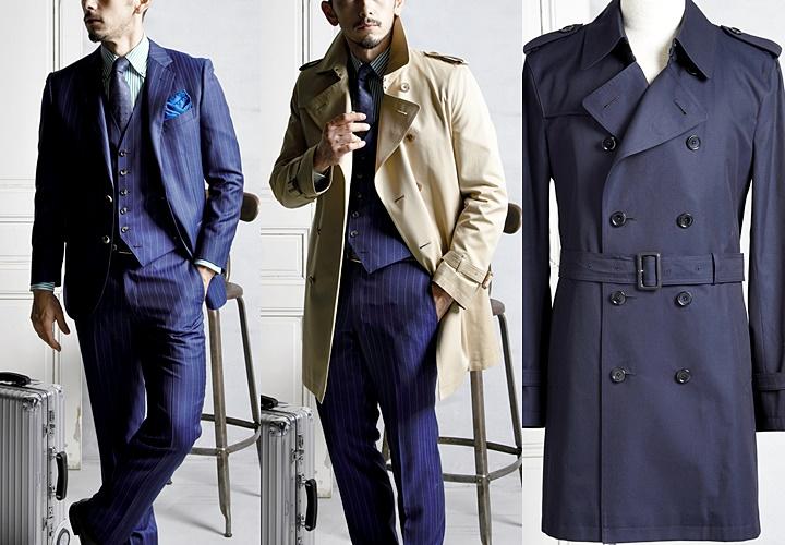 トレンチコートとスーツの合わせ方