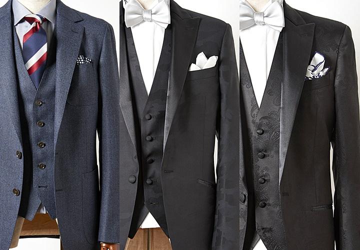 華やかな結婚式にもおすすめのポケットチーフ