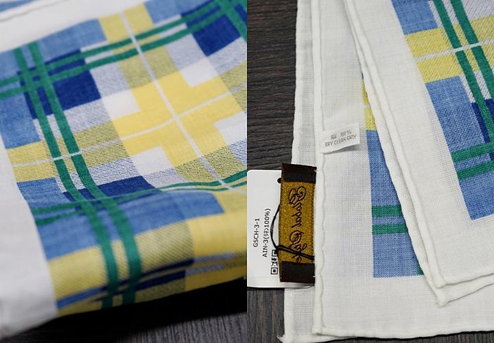 冠婚葬祭(結婚式)リネン素材のポケットチーフ