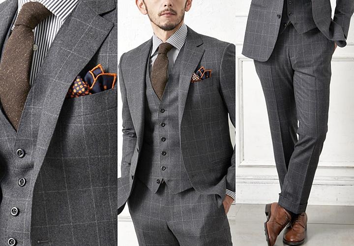 グレーフランネルスーツ