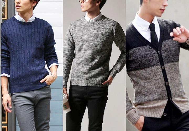暖色系寒色系のセーター