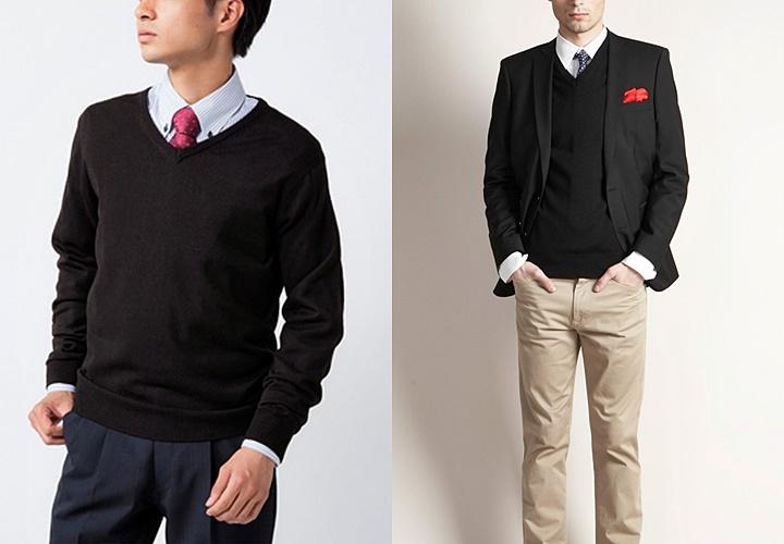 ブラックスタイル×セーター