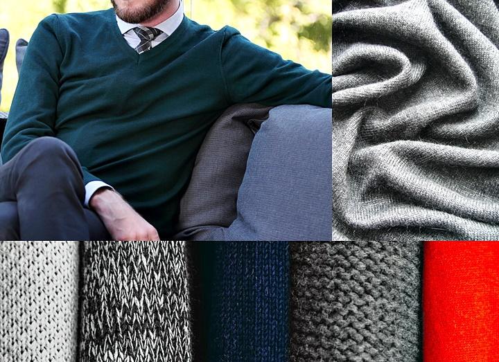 スーツに合わせるセーターの選び方