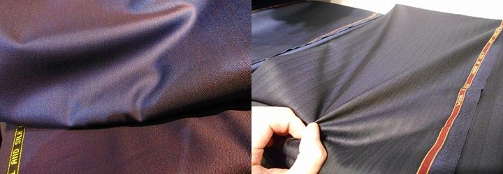 シルクのスーツ生地 光沢