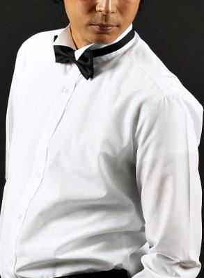 ウィングカラーシャツ(プリーツなし)