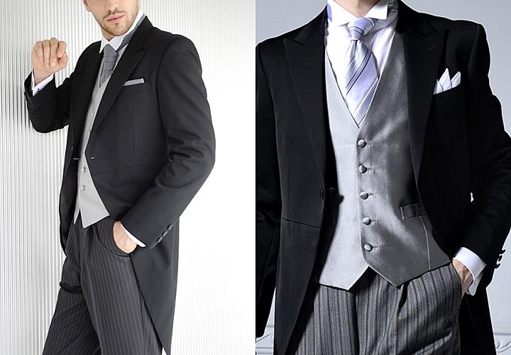 モーニングコートとウィングカラーシャツ