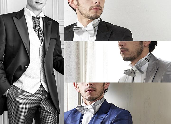 ウィングカラーシャツとネクタイ