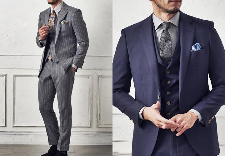 細身のスーツが人気