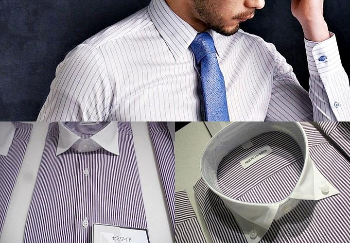 左下:セミワイド、右下:ボタンダウンシャツ