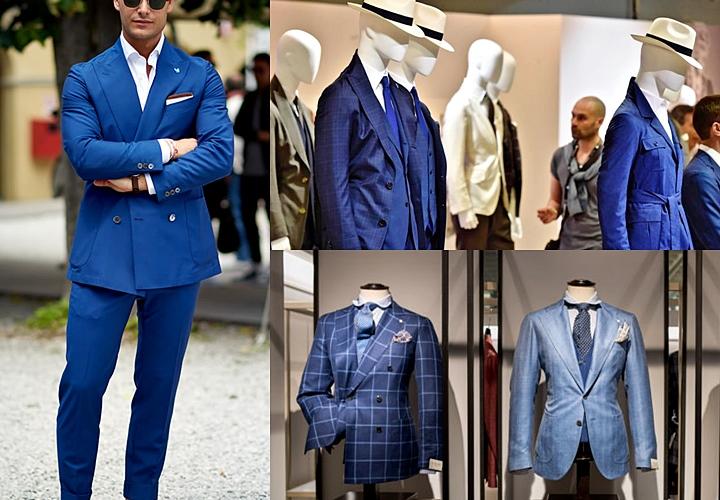 明るめのネイビーやブルー系 春夏スーツ