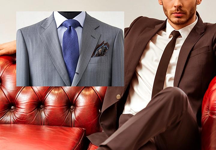 通常のネクタイとナロータイの比較