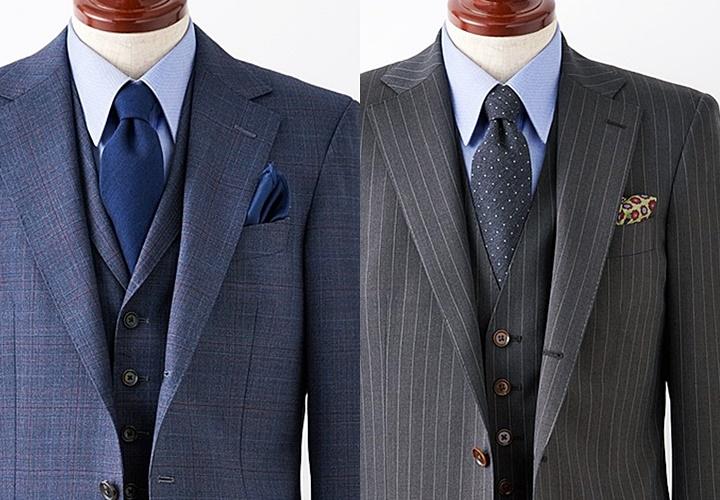 無地や小紋柄のネクタイ