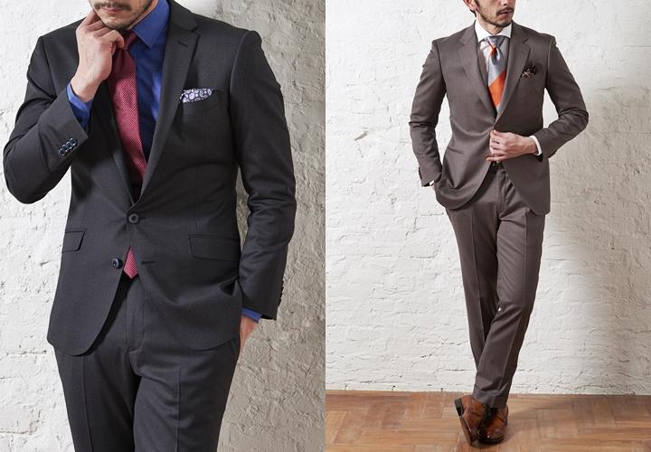 スーツトレンドは「細身スーツ」