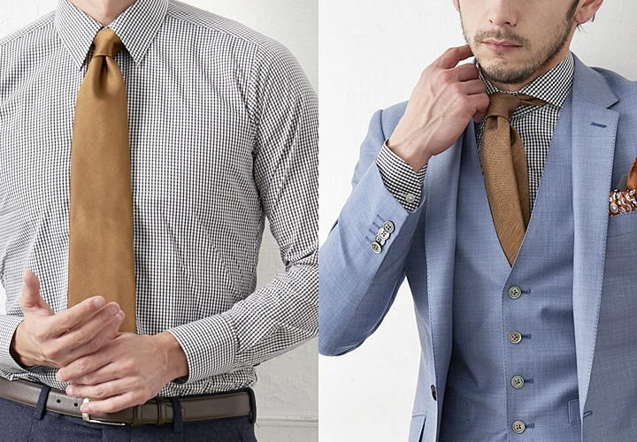 カジュアルなシャツスタイル チェック柄