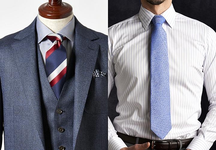 ネクタイの幅と長さ