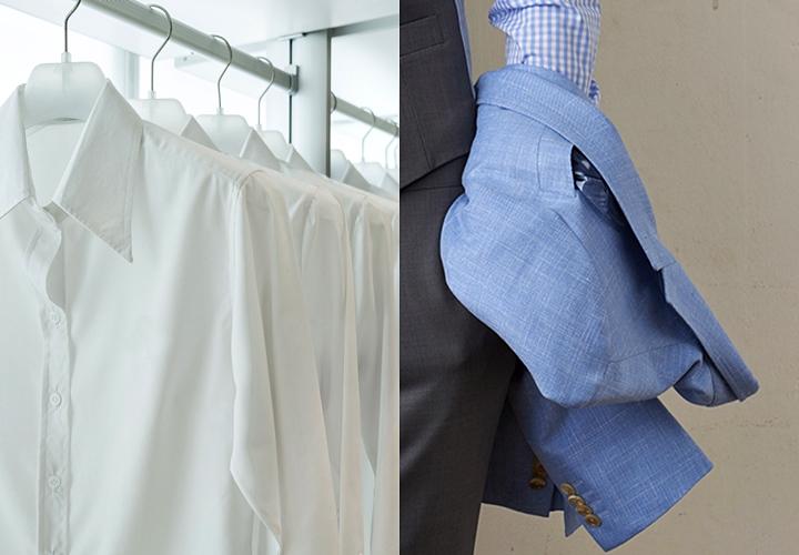 長袖のシャツとジャケット