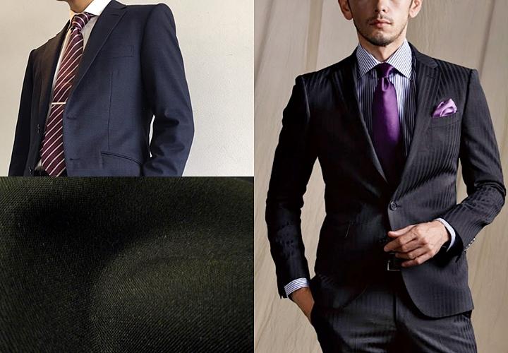 ブラック・濃紺・チャコールグレーの無地スーツ