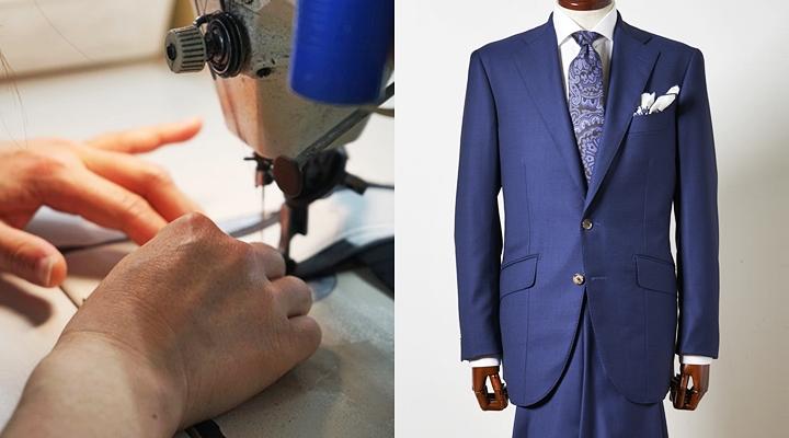 スーツを作るための仕立て