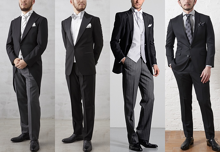 最も格式の高い正礼装・モーニング・タキシード・ディレクターズ・ブラックスーツ