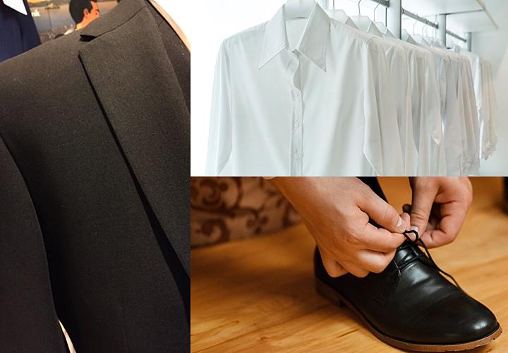 5f00578c1e3db ... 方をみていくと、スーツの色は、より深い黒(漆黒)、シャツは柄のない白、ネクタイや靴下は黒に統一。靴は、黒のストレートチップ・プレーントゥが良い。