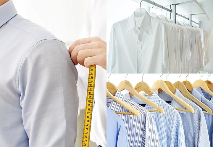 白いワイシャツとストライプのワイシャツ