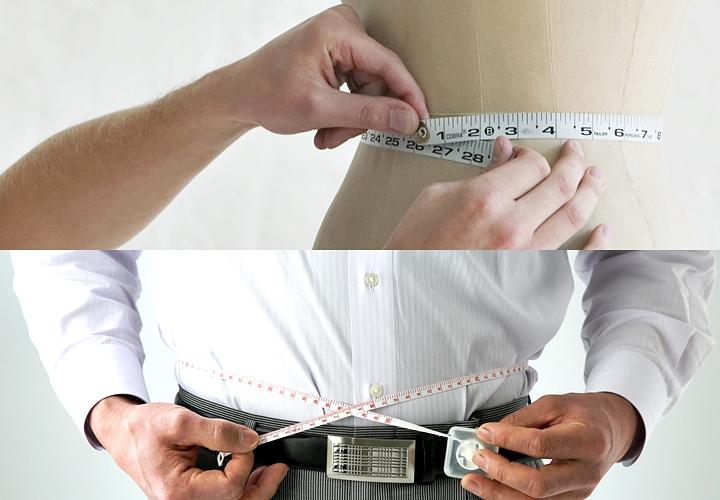 ワイシャツ・ウエストのサイズの測り方
