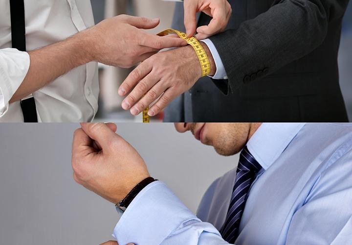 ワイシャツ・手首のサイズの測り方