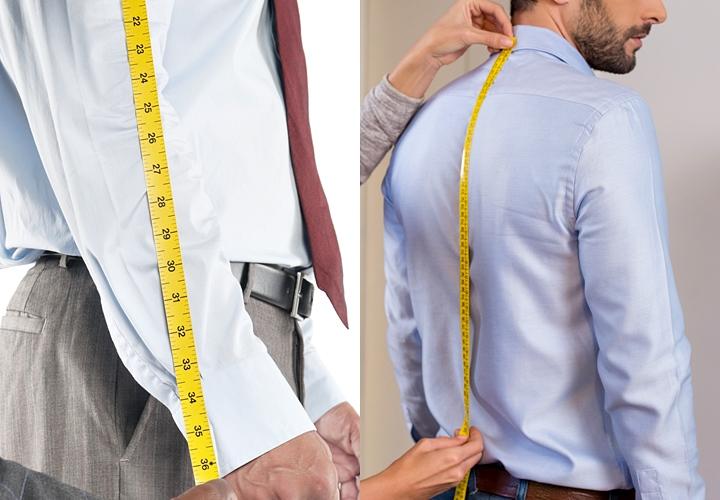 ワイシャツ・着丈のサイズの測り方