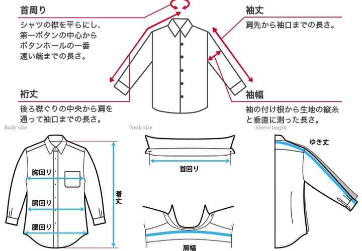 ワイシャツサイズの記載