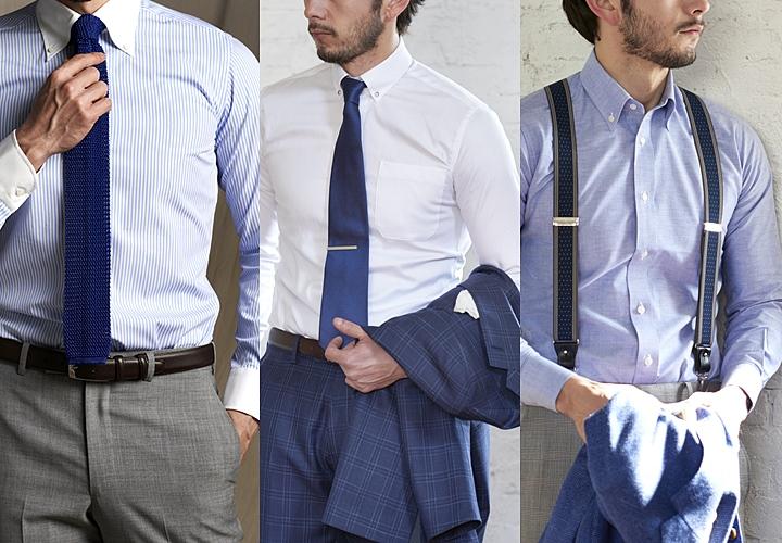ワイシャツ1枚、クレリックシャツとクールビズスタイル