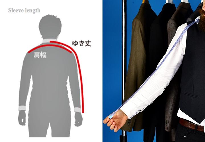 ワイシャツ・裄丈のサイズの測り方