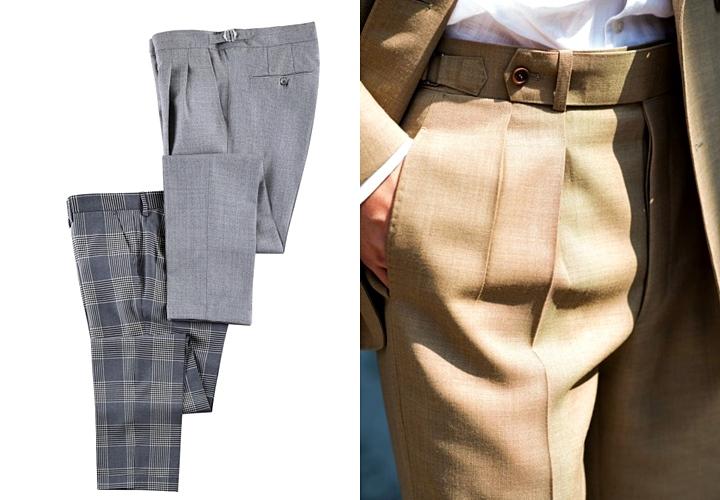 タック入りパンツはスーツのトレンド