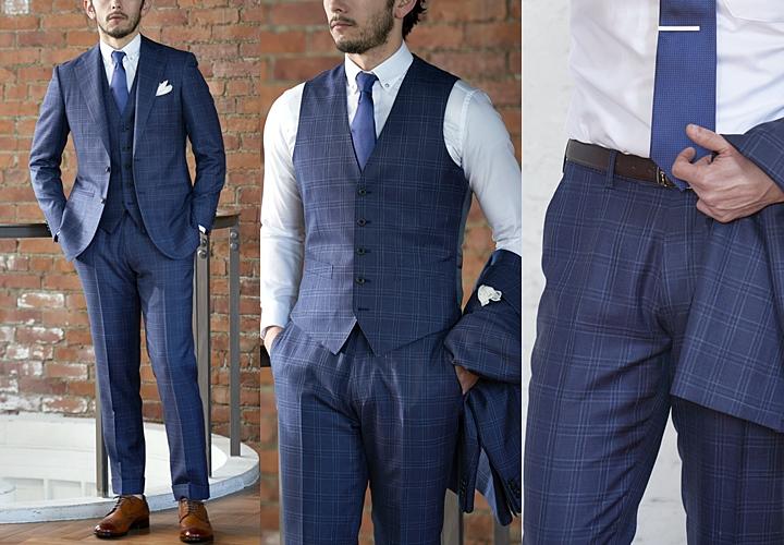 ノータックパンツ スーツスタイル