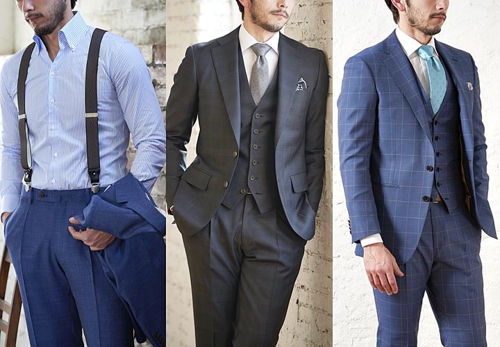 ワンタックパンツ スーツスタイル