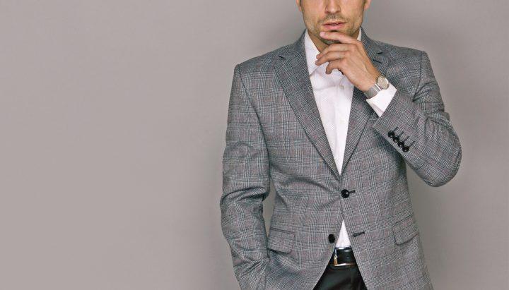 ドレスコード・グレンチェック柄のジャケットスタイル