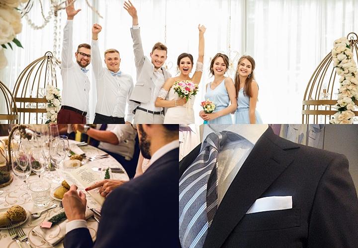 結婚式後の二次会。カジュアルな服装