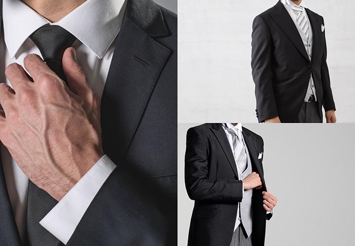 結婚式の服装(右上)モーニングコート(右下)タキシード
