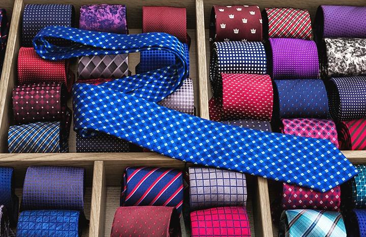 ネクタイの収納方法イメージ