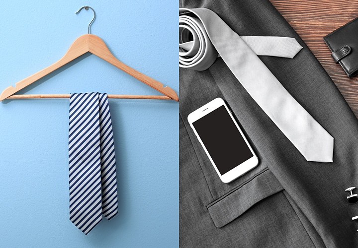 ネクタイ収納3つの方法「丸める」「吊るす」「平置き」