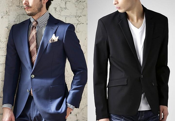 (左)一般的なスーツスタイル(右)カジュアルスタイル