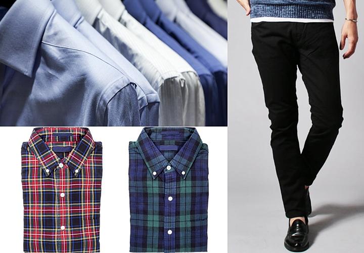 テーラードジャケットをキレイめに合わせる時のシャツやパンツ