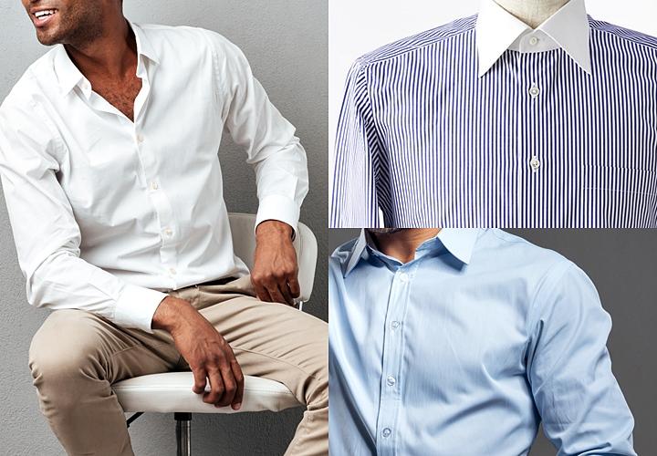 一般的なクールビズの服装:シャツ×ノーネクタイ