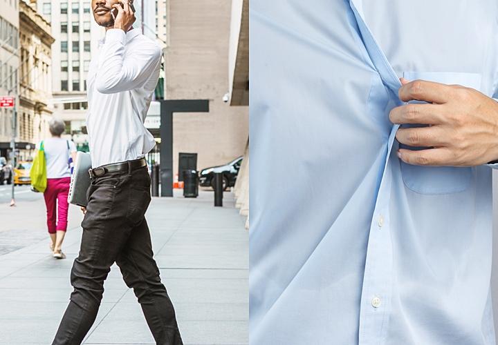 襟汚れは汗と紫外線の影響